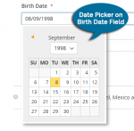 Date Picker for Birth date Selection