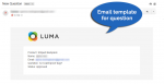 Email template for question