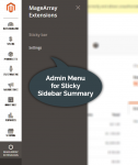 Admin menu for Sticky Sidebar Summary Extension