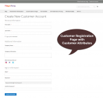 Customer attributes on customer registration page