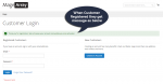 Customer registration message with Customer Activation Extension