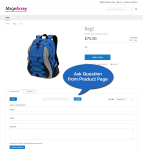 Ask a question functionality on a product page