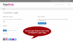 Magento Social Login Extension - Customer Login Screen