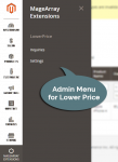 Admin Menu for Found a lower price