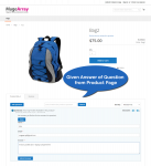 Give answer functionality on product page