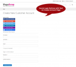 Social login buttons for create account page Magento 2
