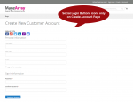 Social login for create account page