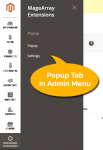 Admin menu for Popup Extension