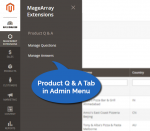 Admin Menu Product Questions & Answers Extension