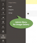 menu for Image gallery - admin area