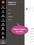 Admin menu for FAQ extension
