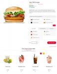 Custom burger page