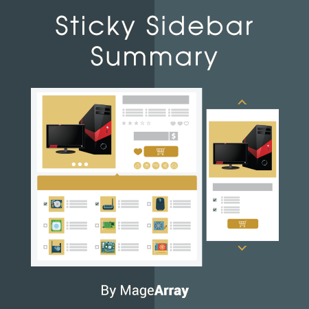 Magento 2 Sticky Sidebar Summary Extension by MageArray